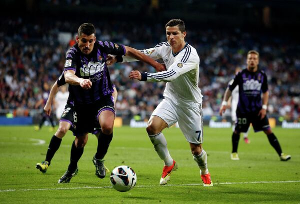 Игровой момент матча Реал - Валидолид