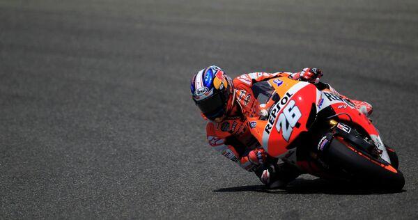 Гонщик Хонды Дани Педроса на этапе Гран-при Испании