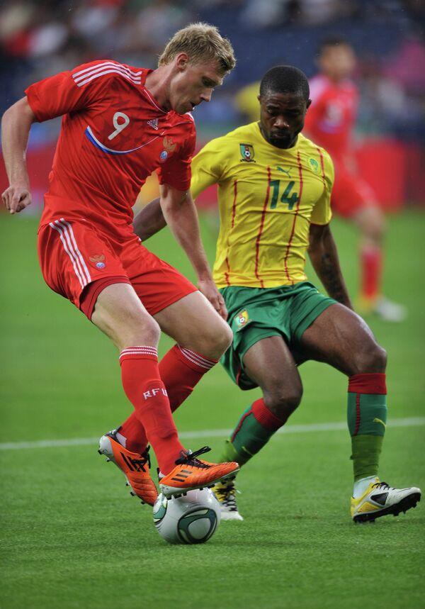 Футбол. Товарищеский матч. Камерун - Россия