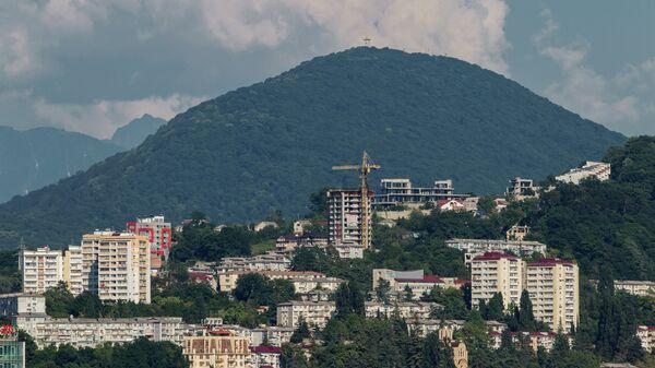 Города России. Сочи. Вид на гору Ахун
