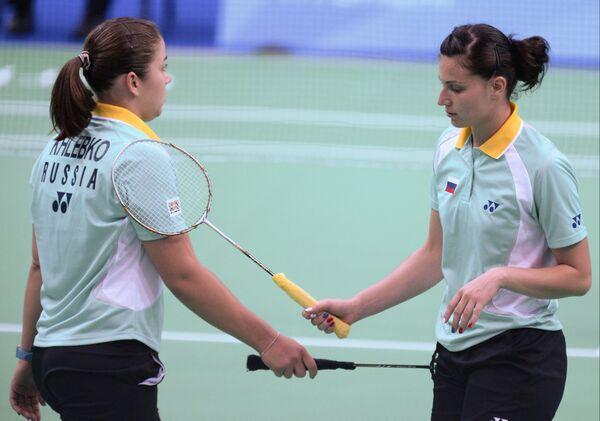 Российские спортсменки Ирина Хлебко и Ксения Поликарпова (справа)
