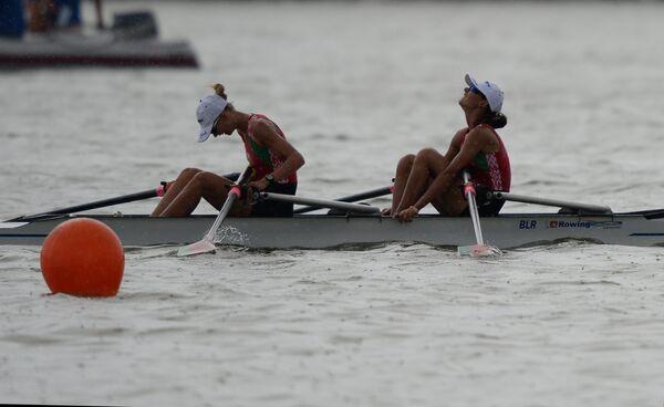 Белорусские спортсменки Ирина Ляскова и Алена Кривашеенка