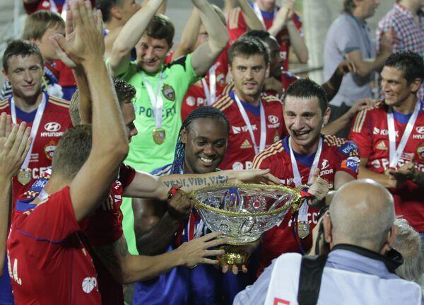 Футболисты ЦСКА после награждения