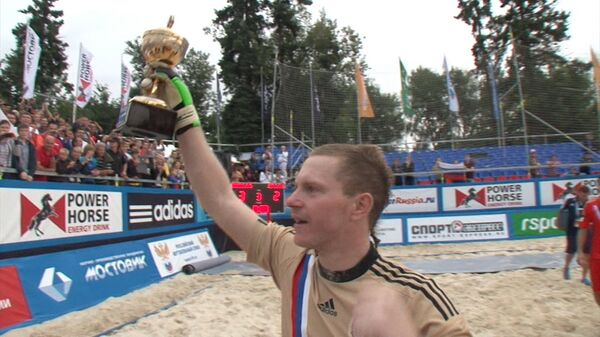 Российские пляжные футболисты победили испанцев. Самые яркие моменты матча