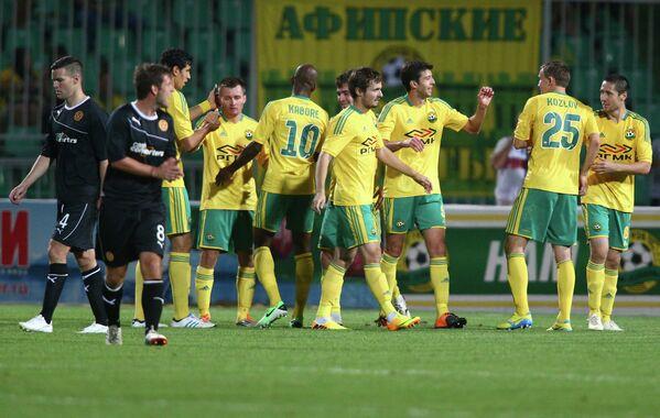 Игровой момент матча Кубань - Мотеруэлл