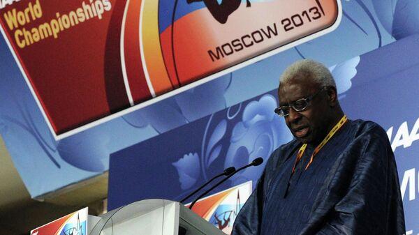 Л.Диак на открытии чемпионата мира по легкой атлетике в Москве