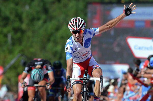 Дани Морено на финише четвертого этапа Вуэльты