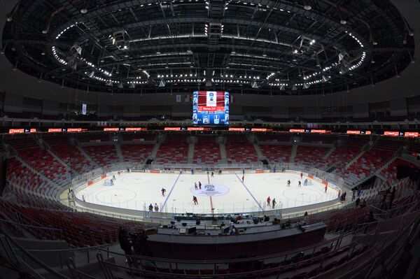 Ледовый дворец Большой в Олимпийском парке в Сочи