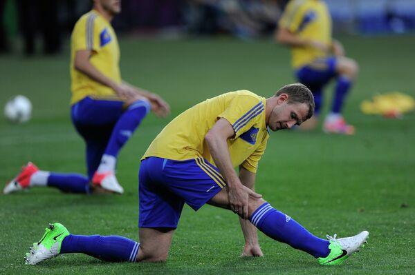 Футбол. ЕВРО - 2012. Тренировка сборной Украины