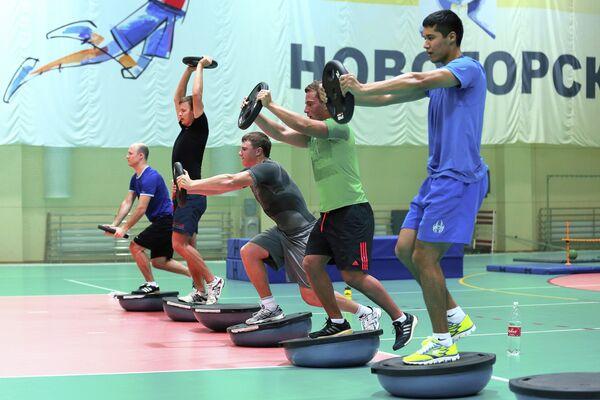 Тренировка мужской сборной России по горнолыжному спорту