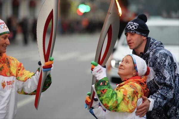 Эстафета Олимпийского огня. Санкт-Петербург. День 1