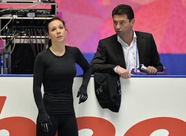Алена Леонова и тренер Николай Морозов