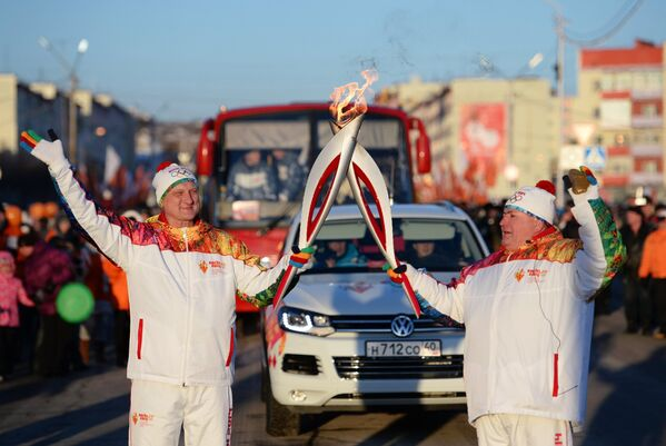 Эстафета Олимпийского огня. Магадан