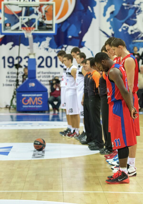 Баскетболисты ЦСКА и Партизана