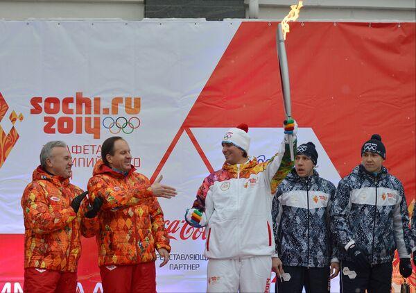 Александр Усс и губернатор Красноярского края Лев Кузнецов