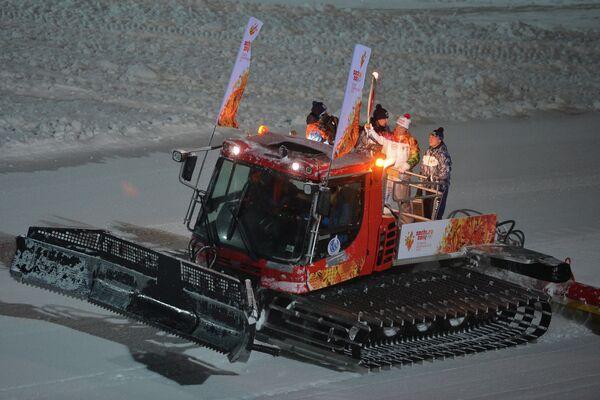 Эстафета Олимпийского огня. Дивногорск