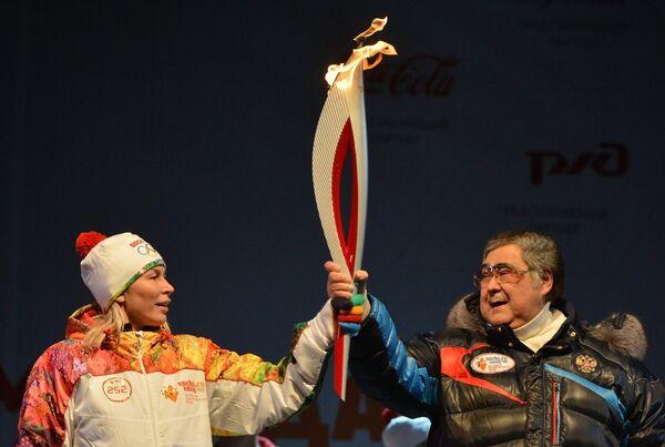 Эстафета Олимпийского огня. Кемерово