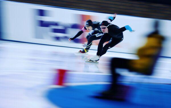 Конькобежный спорт.