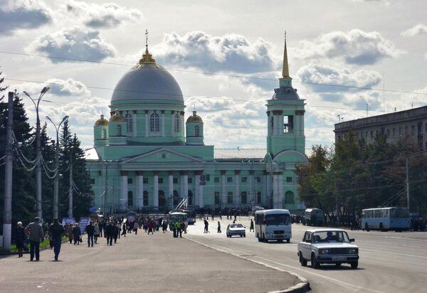 Кафедральный собор Знаменского мужского монастыря на Красной площади города