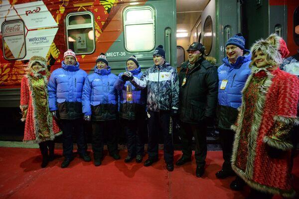 Эстафета Олимпийского огня. Пермь