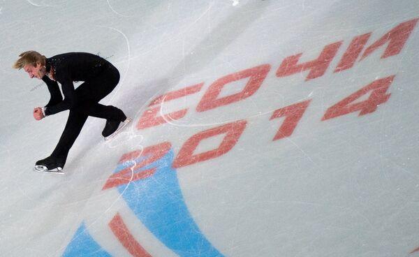 Евгений Плющенко во время показательного выступления на чемпионате России по фигурному катанию в Сочи