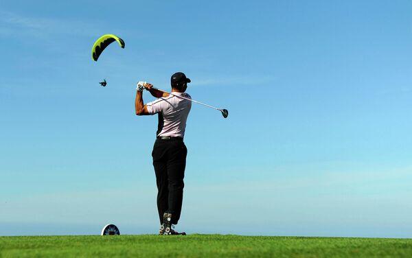Известный гольфист Тайгер Вудс