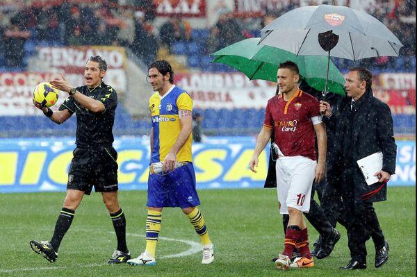 Андреа Де Марко, Алессандро Лукарелли и Франческо Тотти (слева направо)