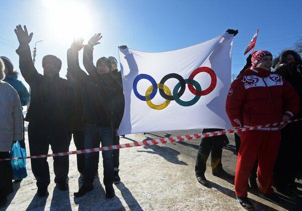 Эстафета Олимпийского огня. Майкоп