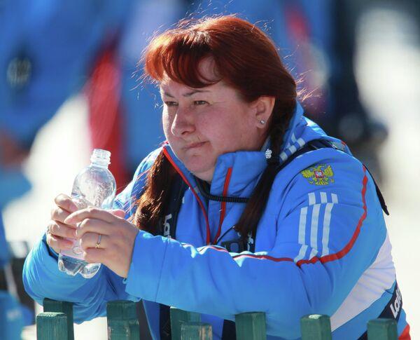 Президент Федерации лыжных гонок России Елена Вяльбе на чемпионате мира по лыжным видам спорта в итальянском Валь-ди-Фьемме