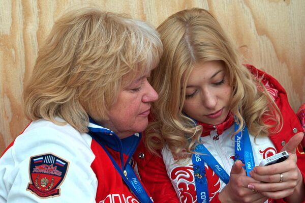 Екатерина Боброва (справа) с мамой Натальей