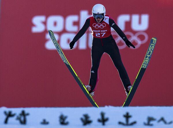 Олимпиада 2014. Прыжки с трамплина. Ирина Аввакумова. Средний трамплин.
