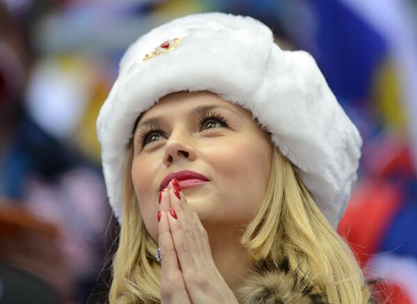 Болельщица сборной России