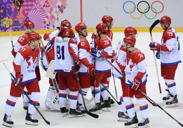 Хоккеисты сборной России после поражения от США