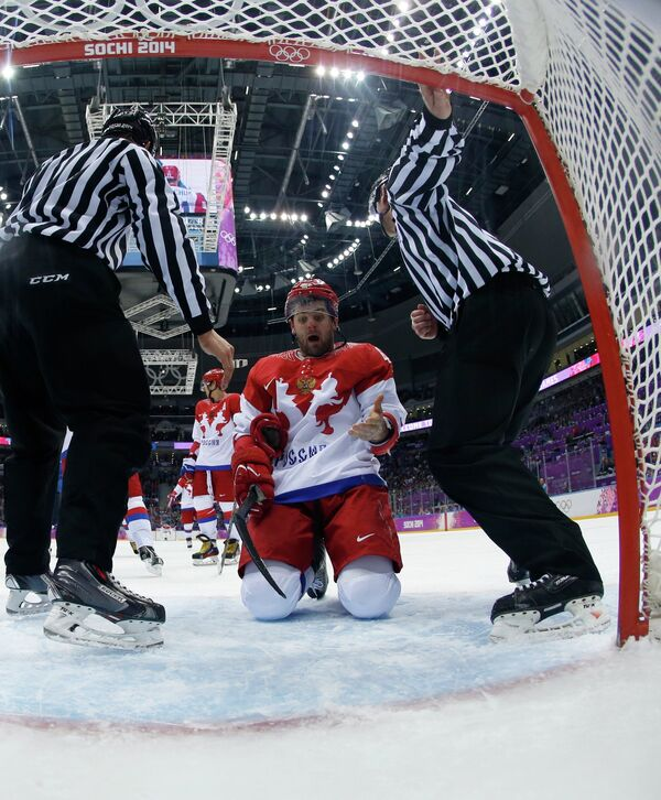 Нападающий сборной России Александр Радулов