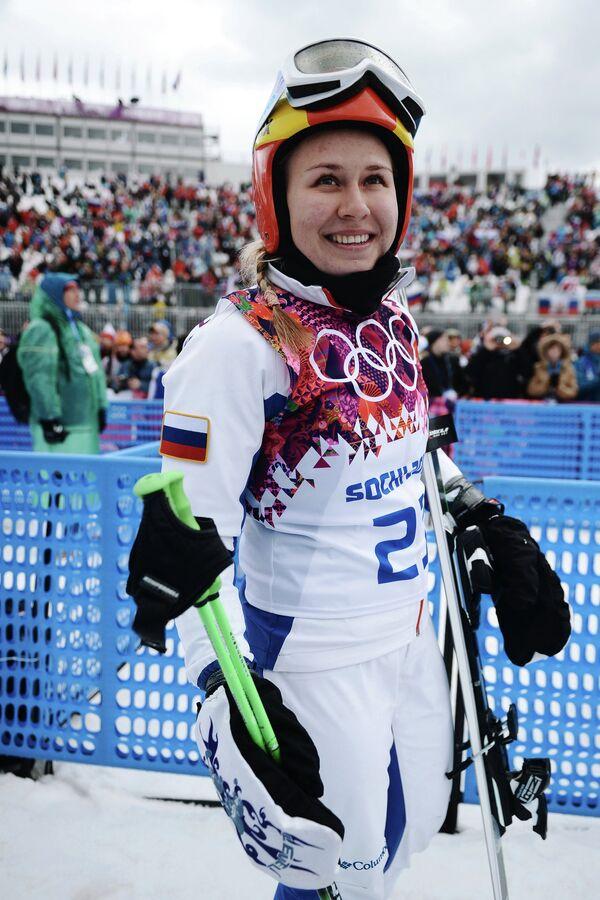 Анастасия Чирцова (Россия) в посеве ски-кросса