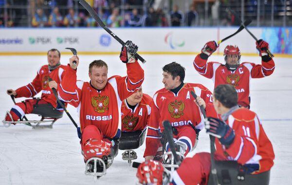 Следж-хоккеисты сборной России