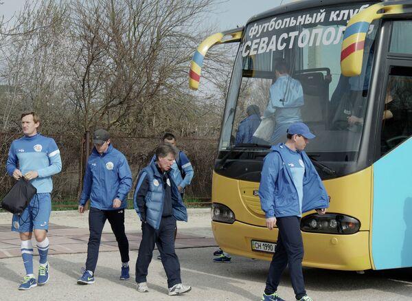 Открытая тренировка ФК Севастополь в Крыму
