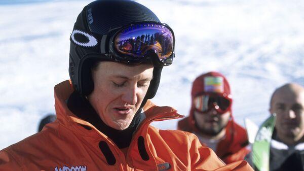 Михаэль Шумахер на горнолыжном склоне
