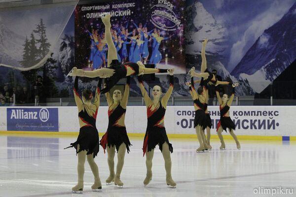 Соревнования по синхронному катанию на коньках
