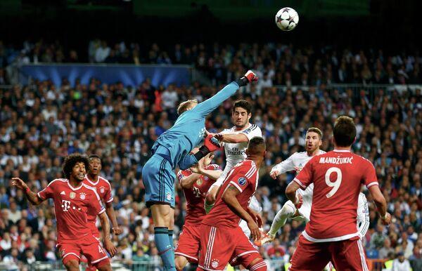 Игровой момент матча Реал - Бавария