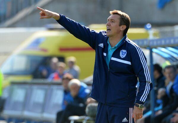 Главный тренер Волги Андрей Талалаев в матче 27-го тура чемпионата России по футболу