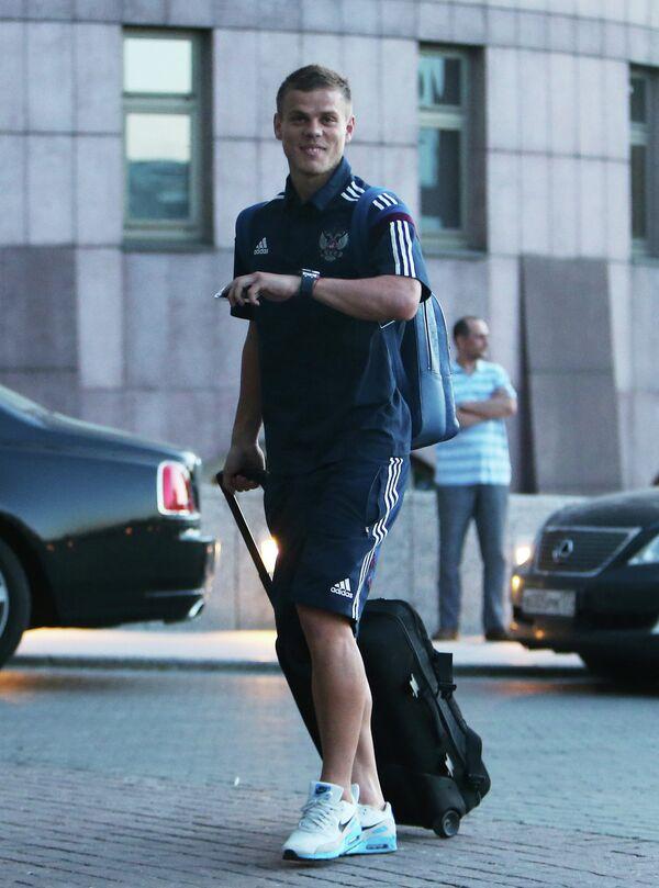 Нападающий Динамо Александр Кокорин прибыл на сбор национальной сборной по футболу
