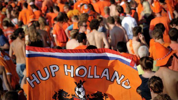 Болельщики сборной Нидерландов по футболу.