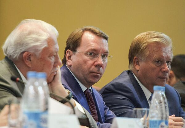 Виталий Смирнов, Владимир Кожин и Леонид Тягачев (слева направо)