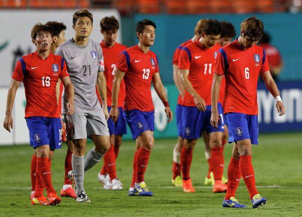 Футболисты сборной Южной Кореи