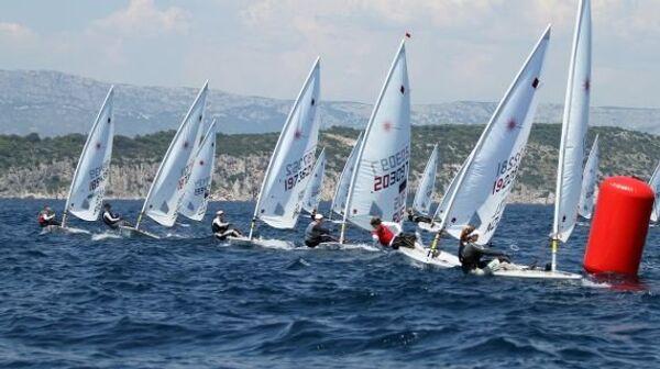 Участники чемпионата Европы в олимпийском классе Лазер