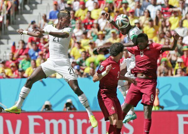 Игровой момент матча Португалия - Гана