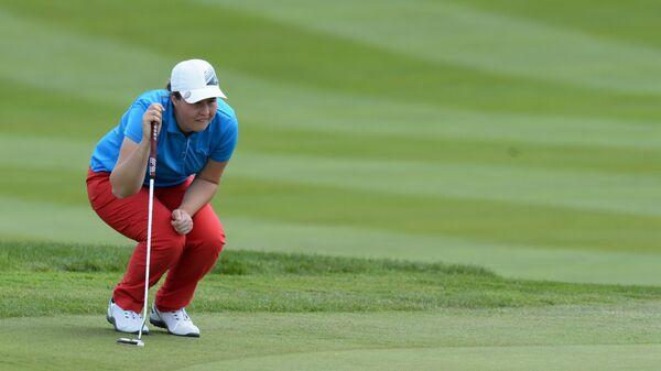 Нина Пегова во время финального раунда 23-го открытого чемпионата России по гольфу