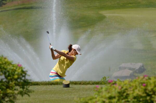 Галина Ротмистрова во время финального раунда 23-го открытого чемпионата России по гольфу