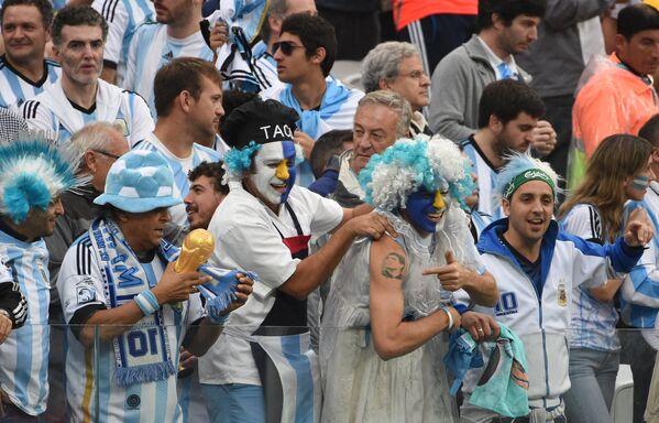 Болельщики сборной Аргентины.